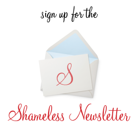 shameless newsletter